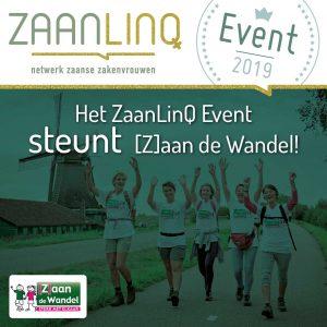 Het ZaanLinQ event 2019 steunt [Z]aan de Wandel