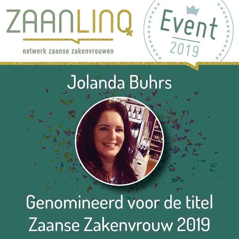 Jolanda Buhrs, genomineerd voor Zaanse Zakenvrouw 2019