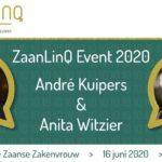 Anita Witzier en André Kuipers op het ZaanLinQ Event 2020